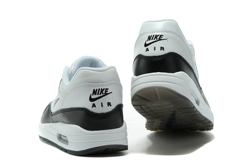 6ee8c9364d Classic Men's Nike Air Max 1 Jewel-Black-White Running Shoes 918354-100