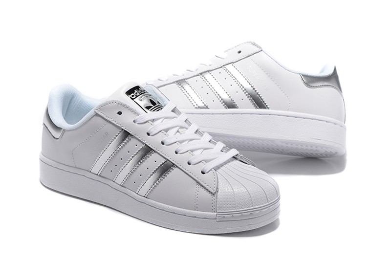 High Quality Adidas Originals Superstar White/Silver AQ3091 Men's-Women's  Casual Shoes