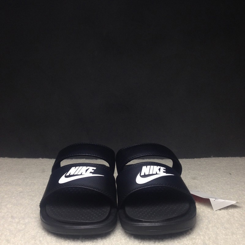 28336d58019b Hot Selling Nike Benassi Duo Ultra Slide Black White Women s Sandals ...