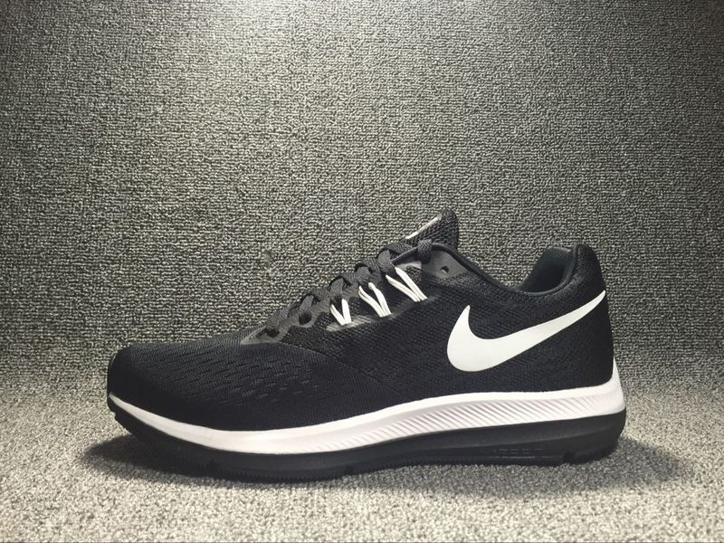 buy popular 12829 b222e Hot Selling Nike Zoom Winflo 4 Black/White Running Shoes Sneakers 898466-001