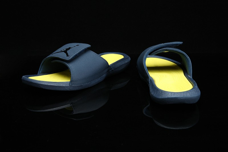 017f1b9f75e4 Jordan Hydro 6 Men s Armory Navy Yellow Synthetic Sandals Massage ...