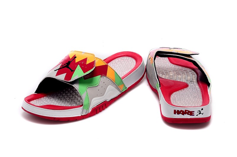 new product d4f60 7afb5 Jordan Hydro VII Retro 7 Bugs Bunny Men's White/True Red/Light Poison  Slippers