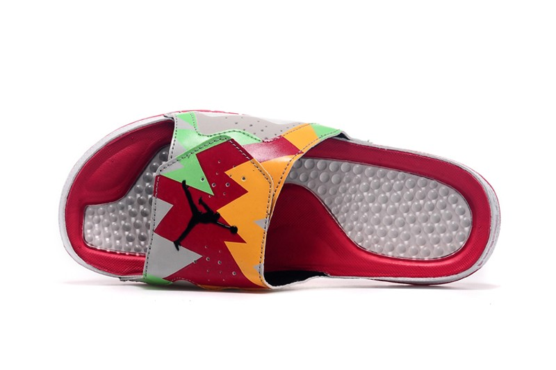 d11bad01a Jordan Hydro VII Retro 7 Bugs Bunny Men s White True Red Light Poison  Slippers