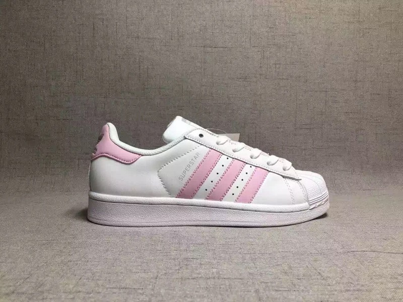 Ultimo estilo adidas Originals Superstar ba7683 blanco / rosa bebe