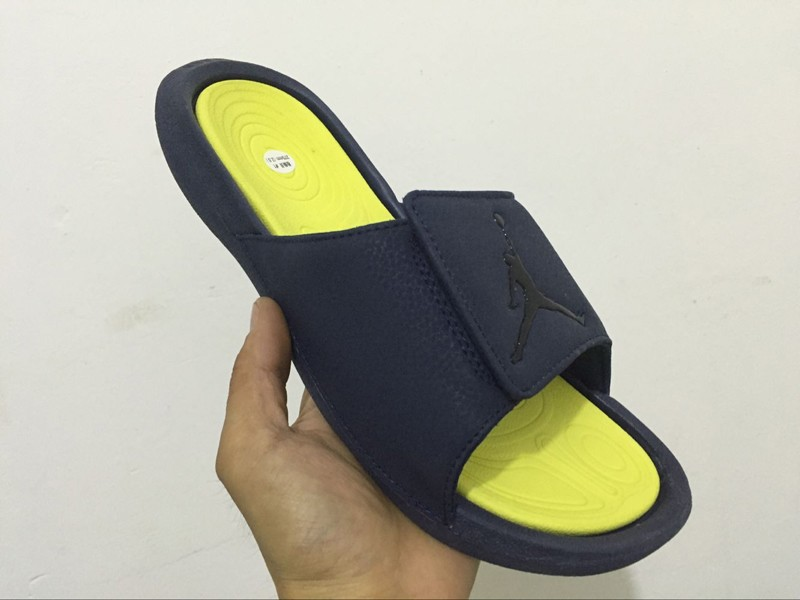142ec43b3967 Latest Style Nike Air Jordan Hydro 6 Black Yellow Sandal Slipper 881473-415