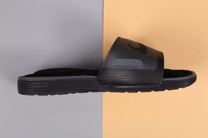 2c4ae995a675c4 Latest Style Nike Comfort Slide Unisex Triple Black Slides Sandals Slippers