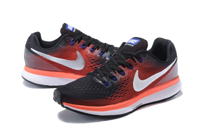 online store aa732 c9754 Men's Nike Air Zoom Pegasus 34 Black/Red/White Sports Running Shoes  880555-006