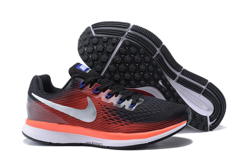 online store b0007 4c530 Men's Nike Air Zoom Pegasus 34 Black/Red/White Sports Running Shoes  880555-006