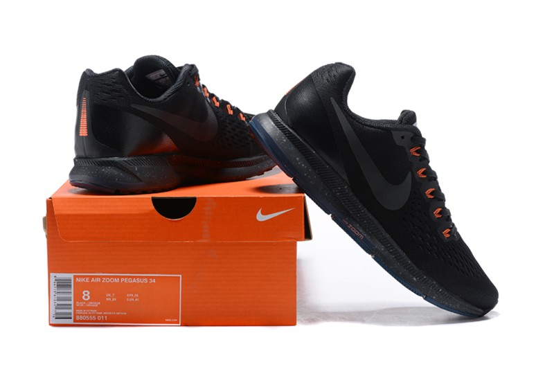 sports shoes cd00d 2a9a7 ... Red Most Popular Nike Air Zoom Pegasus 34 Black Orange .