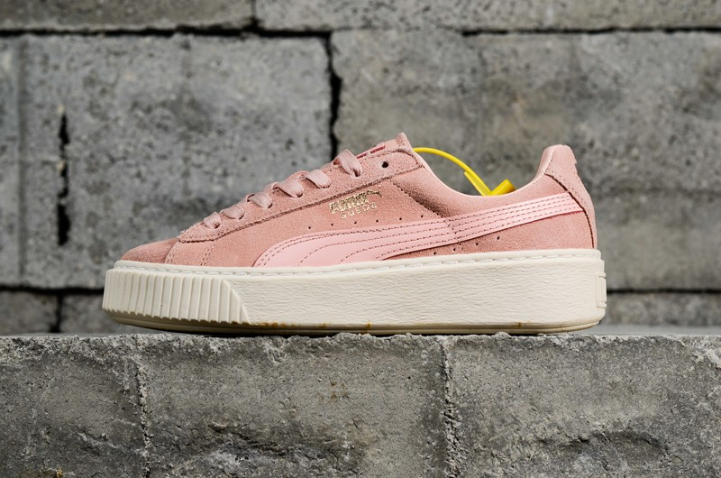 Most Popular PUMA Basket Suede Platform Pink White 363559-05 Women s  Sneakers d7aa29c5a