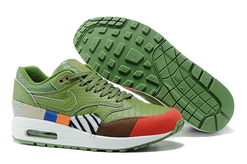 new product bdba7 63068 New Arrival Nike Air Max 1 Green Colorful 910772-003 Men's Running Shoes ...