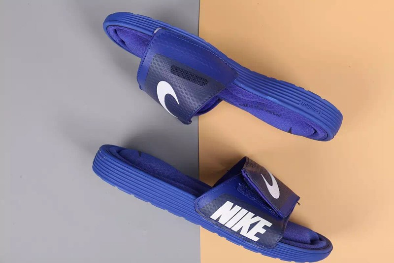 check out 3aaef 0d4dd Newest Nike Comfort Slide Blue/White Men's-Women's Slides Sandals Slippers