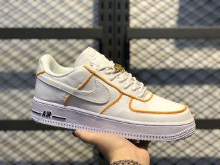 Newest Nike Air Force 1 Low Sneakers Upstep White Yellow JJ3031-878