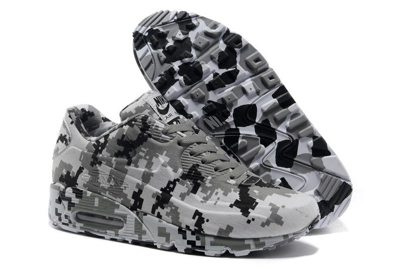 Nike Air Max 90 VT Camouflage Black/White Trainers Running Shoes ...