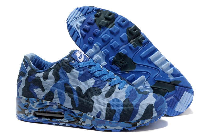 db99fa8e95af Nike Air Max 90 VT Camouflage-Blue-Black 472513-009 Running Shoes Fashion  Sneakers