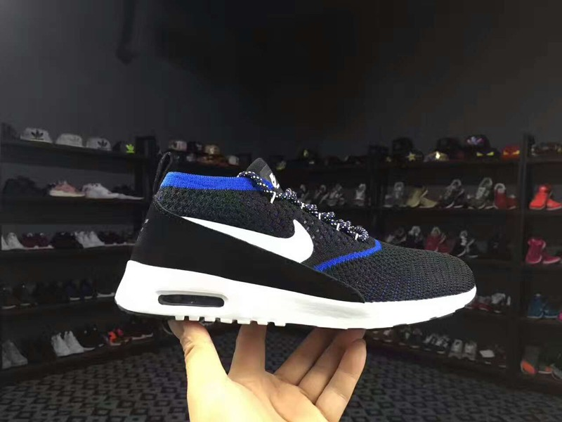 separation shoes b2cc9 4c174 Nike Air Max Thea Ultra Flyknit 87 BlackBlue 881175-401 Mens Running Shoes