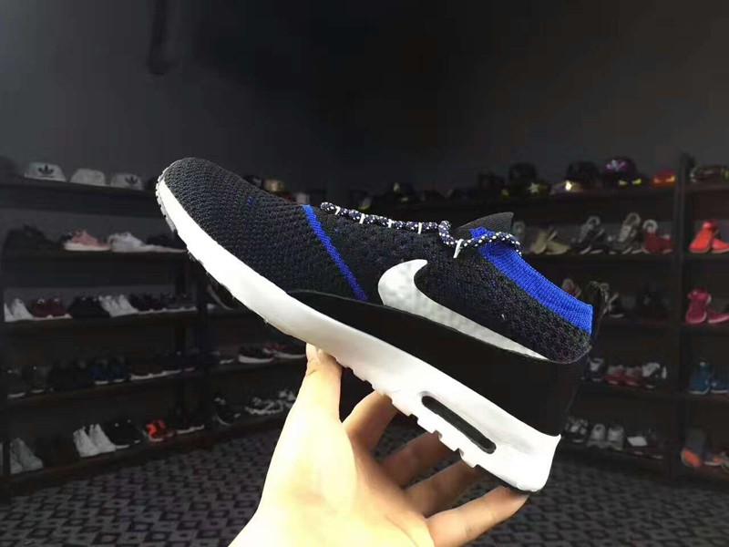 reputable site 8775b a1886 Nike Air Max Thea Ultra Flyknit 87 Black/Blue 881175-401 Men's Running Shoes