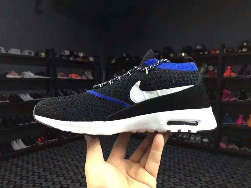 huge discount eb561 2a637 Nike Air Max Thea Ultra Flyknit 87 Black Blue 881175-401 Men s Running Shoes