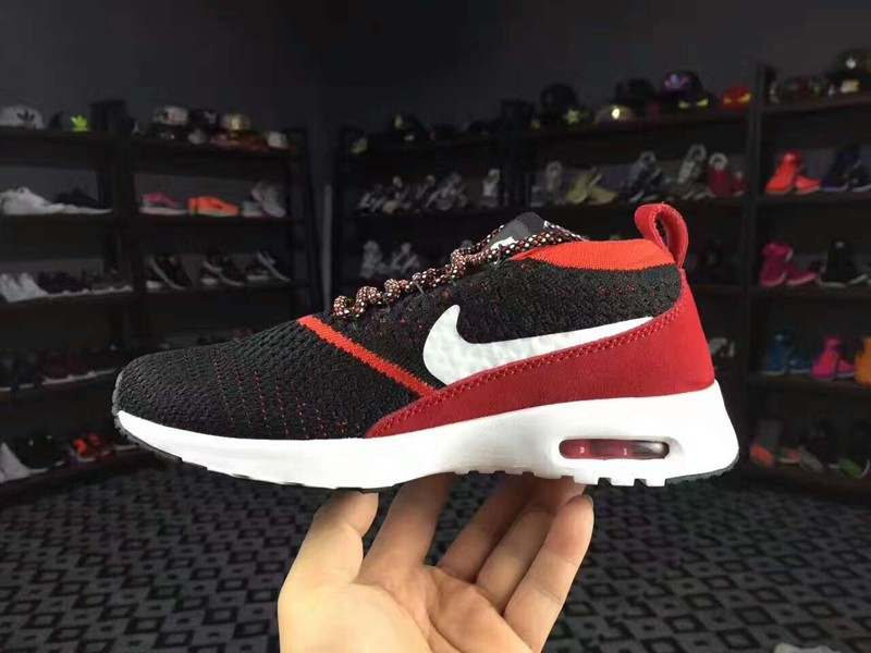 new concept 1722f 22c20 Nike Air Max Thea Ultra Flyknit 87 Black/Red/White 881175-601 Running Shoes