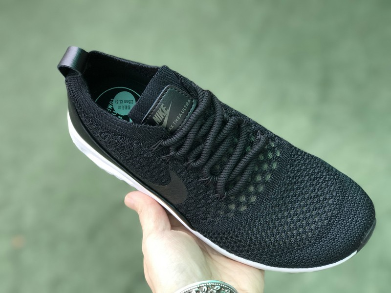 new concept 98abe d8d48 Nike Air Max Thea Ultra Flyknit 87 Black-White 881174-001 Running Shoes For  Sale