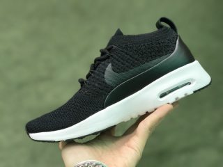 Nike Air Max Thea Ultra Flyknit 87 Black-White 881174-001 Running Shoes For  Sale