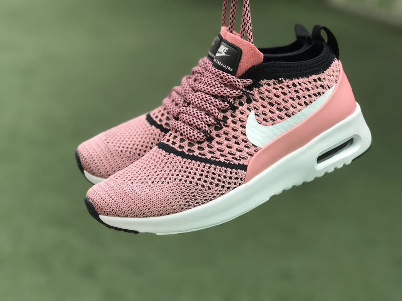 new style cde91 03c94 Nike Air Max Thea Ultra Flyknit 87 Black White Pink 881175-800 Women s Shoes