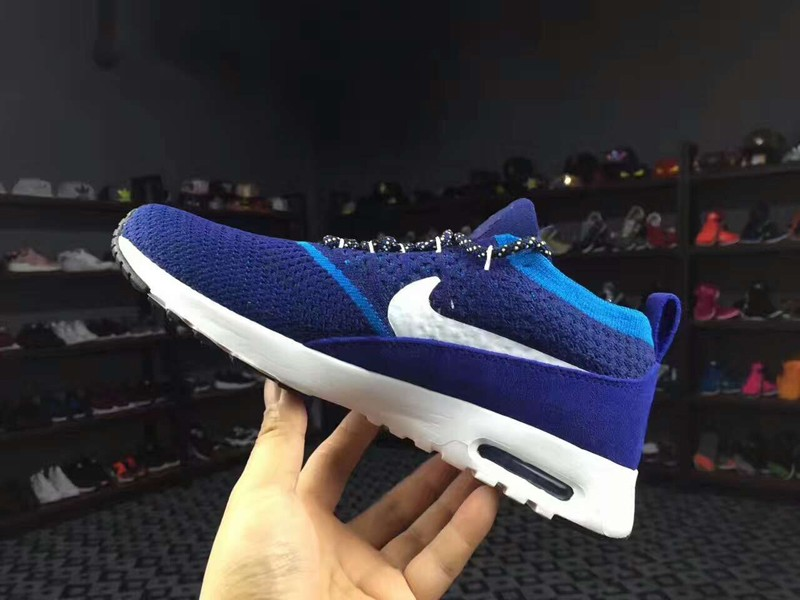 Nike Air Max Thea Ultra Flyknit 87 BlueWhite 881175 400 Men's Running Shoes Sneakers