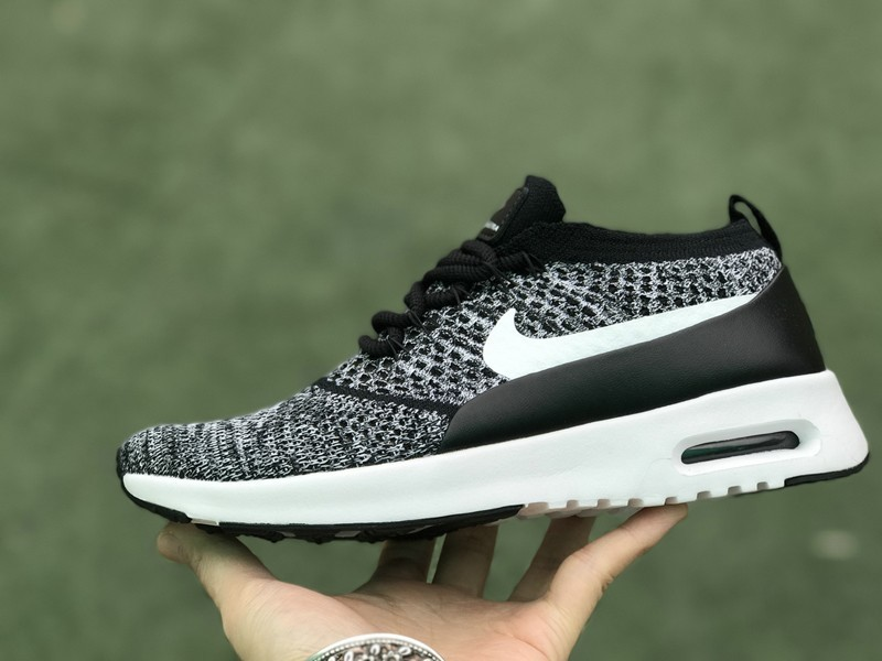 Nike Air Max Thea Ultra Flyknit 87 Black White 881175-001 Running Shoes 443a8e872