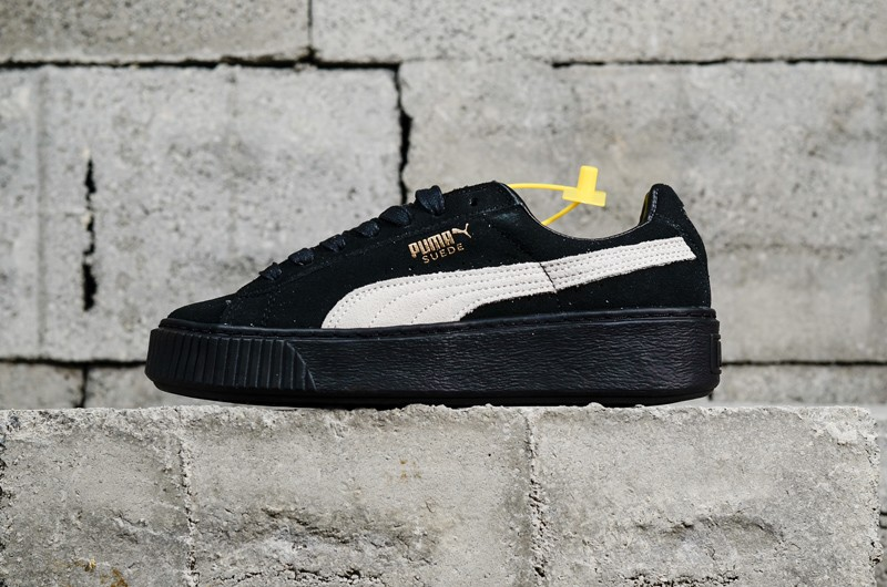 best website 816bb 3727a PUMA Basket Suede Platform Core Black-White 364718-03 Sneakers For Sale