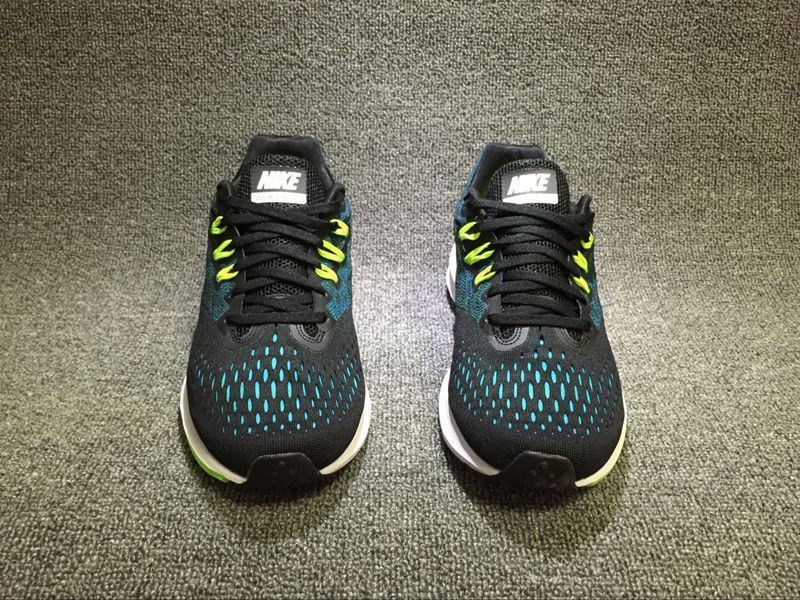 08d2df744f198 Popular Nike Zoom Winflo 4 Black Bule Green White Running Shoes Sneakers  898466-003