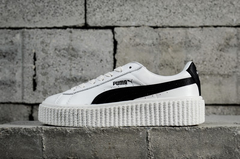 online retailer 8d3a6 e6890 Popular Puma Suede Creepers x Rihanna Women's White/Black Shoes Sneakers  364462-01