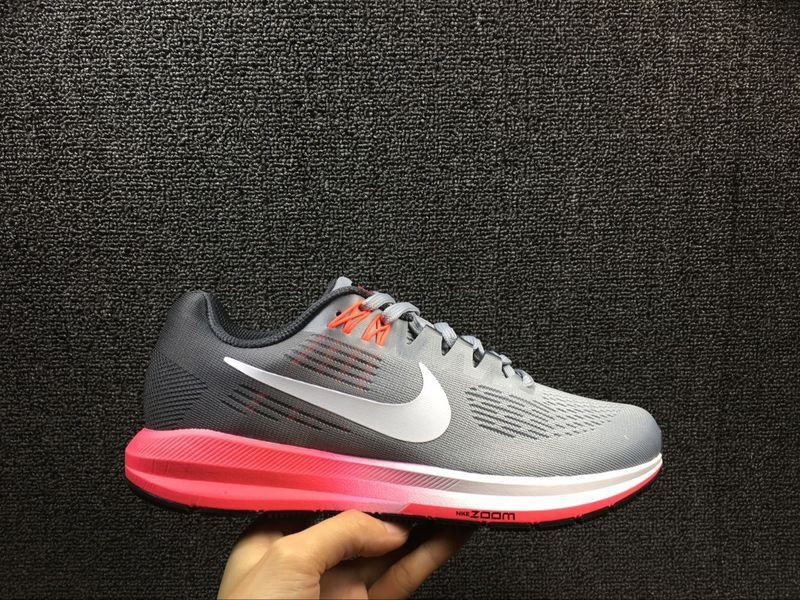 uk availability 7d522 c217a Stylish Nike Air Zoom Structure 21 Grey/Pink 904701-002 Women's Running  Shoes