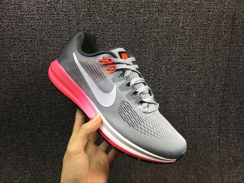 e920625957c4 Stylish Nike Air Zoom Structure 21 Grey Pink 904701-002 Women s Running  Shoes