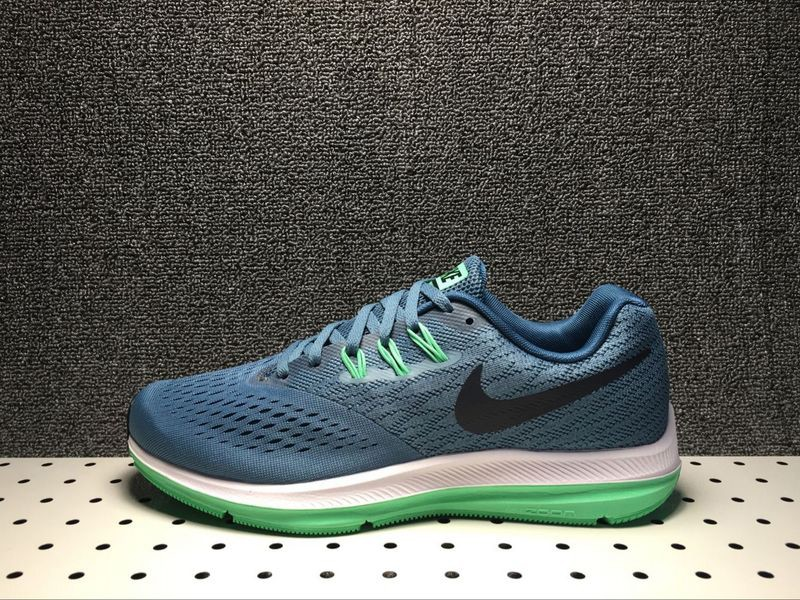 Stylish Nike Zoom Winflo 4 Blue Green Black 898466-004 Men s Running ... 00f452b0a6