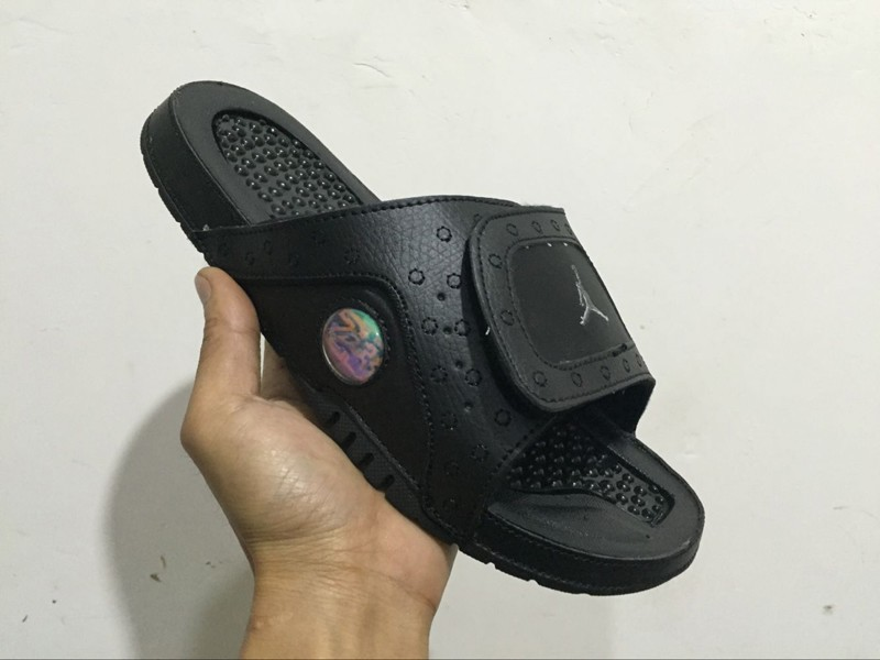 new arrivals d7785 569f8 Top Quality Jordan Hydro 13 Men's Retro Black Slide Lifestyle Sandals