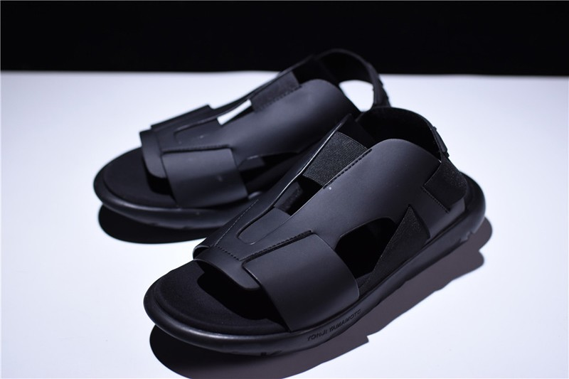 2018 Adidas Y-3 Qasa Mens-Womens Black Elasticity Sandals BY2574 Hot Selling 01c2d9d38