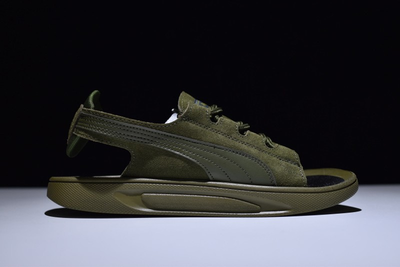 los angeles 0c55f aa395 2018 Latest Style Puma Suede Classic Sandals Army Green 352634-03 For Sale