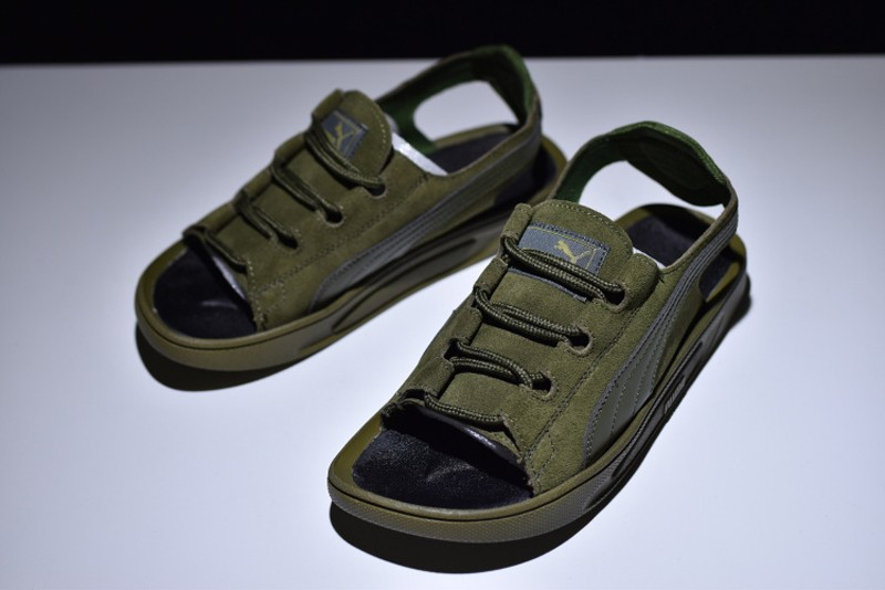 Puma Suede Classic Sandals Army Green 352634-03 Online Buy