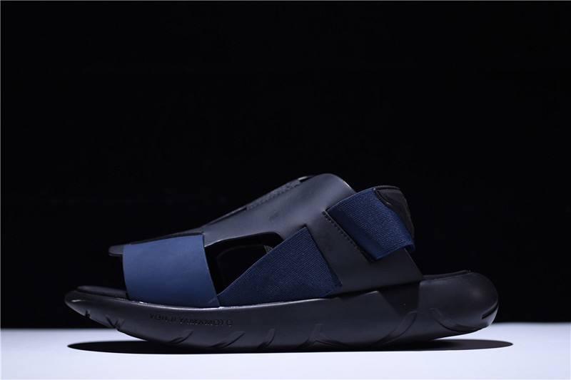 Adidas Y-3 Qasa Men s-Women s Elasticity Sandals BY2572 Dark Blue ... 6b7f3883d