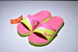 pretty nice edcaf b55d8 Creative Nike Solarsoft KD Slide Pink Yellow White 704812-012 Men s Women s  Slippers