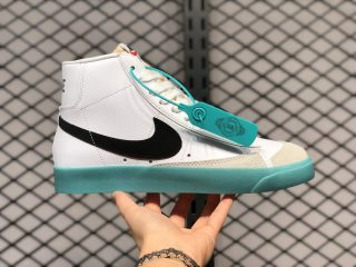 Nike Blazer Mid '77 Vintage White Black Hook Light Blue BQ6805-101