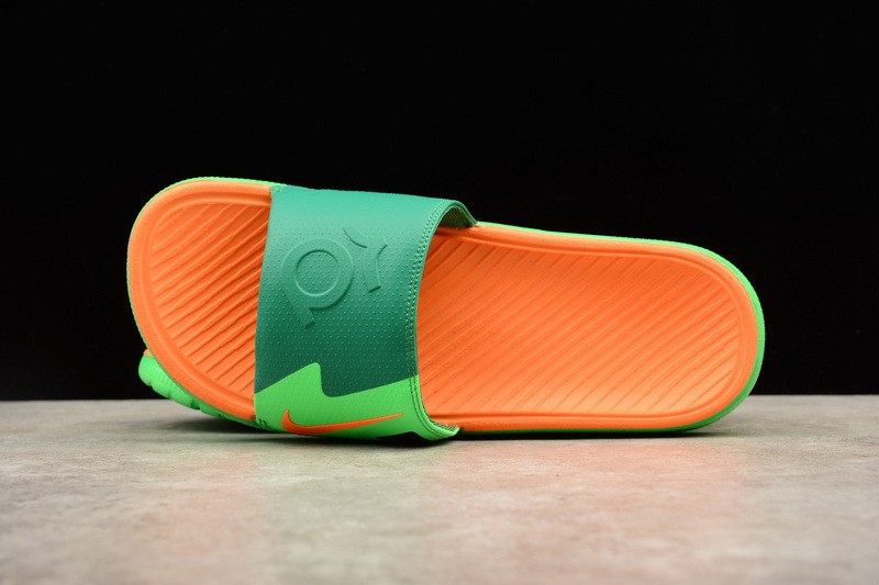 a4d53d8cb5c28 Nike Solarsoft KD Slide Light Lucid Green Orange 631402-303 Men s Slippers