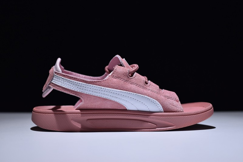 Women s Puma Suede Classic Sandals Pink White 352634-01 In Stock ... 8d0dc6c35