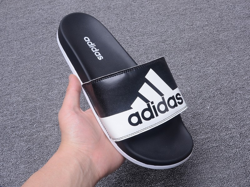 2018 High Quality Adidas Summer Men S Black White Beach Sandals Slippers