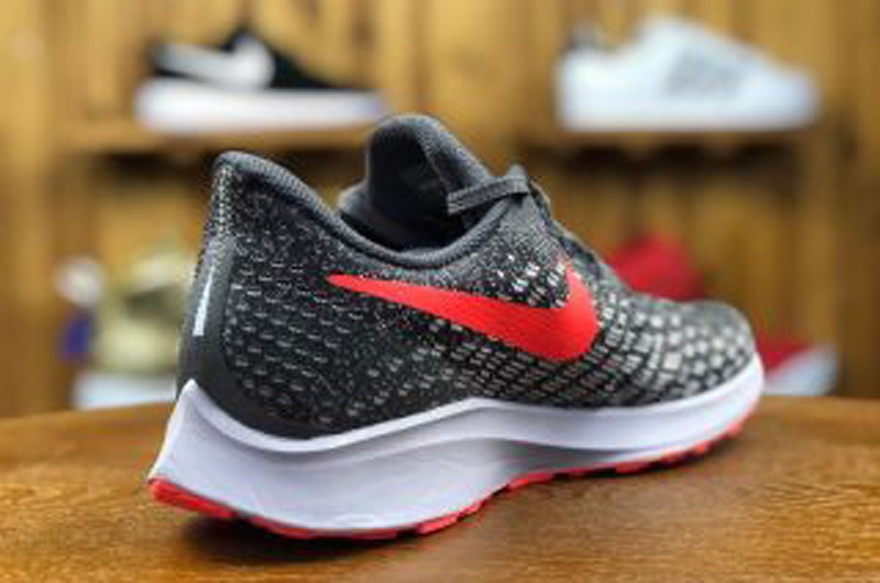 56df694268a75 2018 Newest Nike Air Zoom Pegasus 35 Grey Red 942851-006 Breathable Running  Shoes