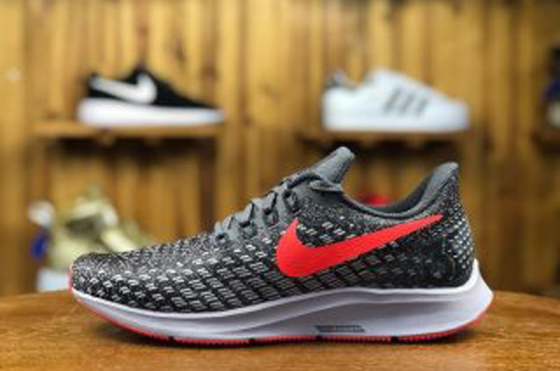 e292d23f010c 2018 Newest Nike Air Zoom Pegasus 35 Grey Red 942851-006 Breathable Running  Shoes