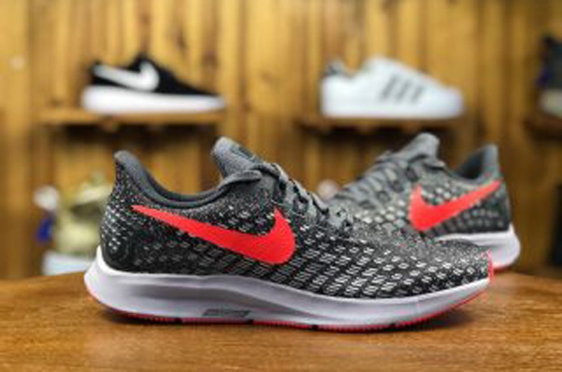 outlet store e1421 71fc8 2018 Newest Nike Air Zoom Pegasus 35 Grey/Red 942851-006 Breathable Running  Shoes