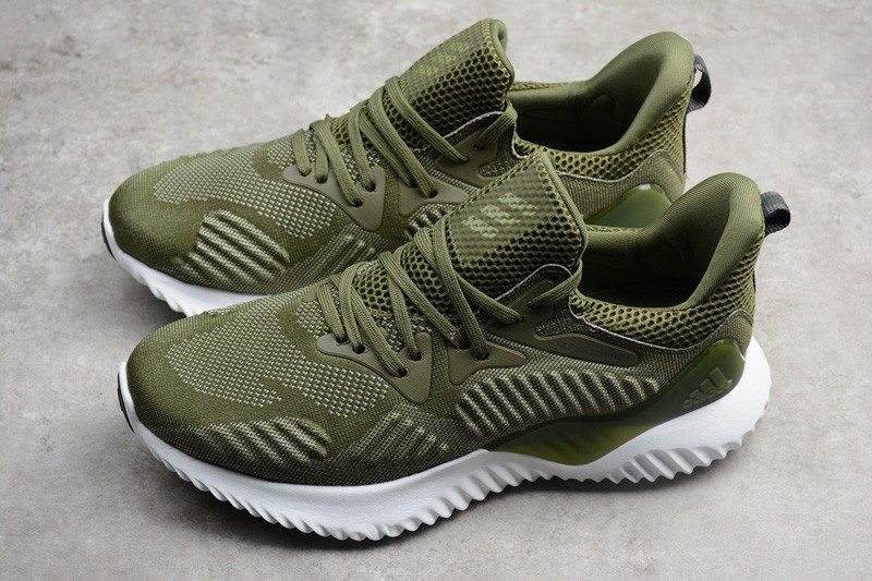 11156765f62e6 Adidas Alphabounce Beyond Men s Running Trainers Shoes Green White ...