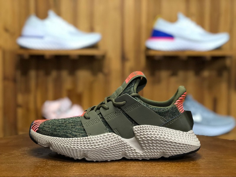 """dd15c933014 Adidas Prophere CQ2127 """"Trace Olive-Solar Red"""" Mens Womens Running Shoes"""