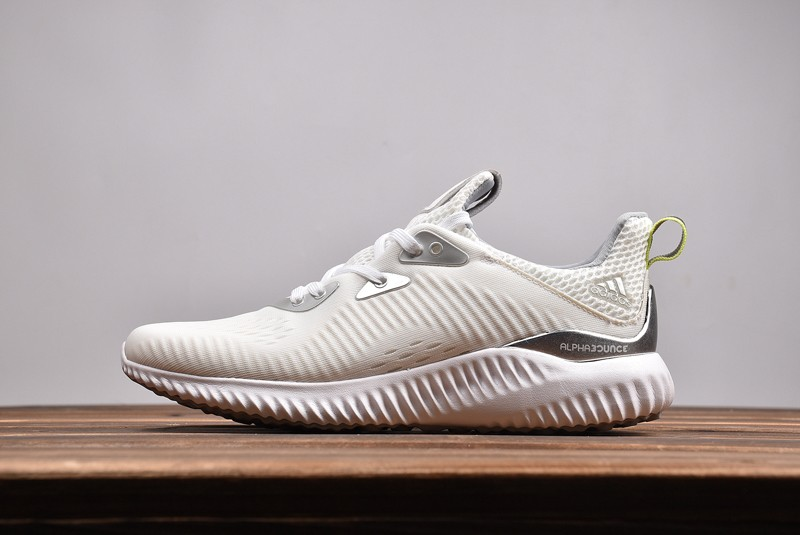 Hot Sale Adidas Alphabounce x Kolor White/Silver CQ0302 Men's Running Shoes